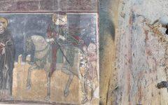 Újabb középkori freskórészletek kerültek elő a zselízi templomban