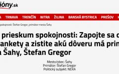 Felmérés: hogyan értékeli Ipolyság polgármestere, Gregor Štefan munkáját?